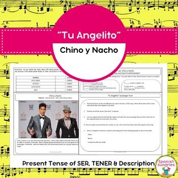 "Spanish Songs:  ""Tu Angelito"" & Present Tense of SER, TENER, & Description"