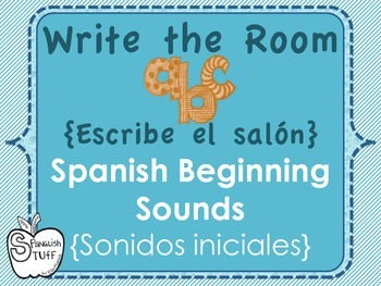 Spanish: Sonidos Iniciales/Write the Room