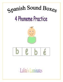 Spanish Sound Boxes: 4 phonemes