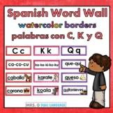 Spanish Sound Wall   Palabras con c, k y q