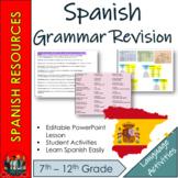 Spanish -  Spanish Grammar Revision
