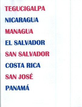 Spanish Speaking Country and Capital Strips & Flag symbols