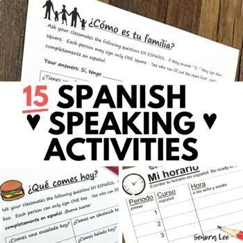 Spanish Spanish Speaking Activities - Find Someone Who Games