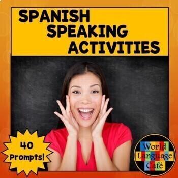 Spanish Speaking Activities, Test, Exam for Midterm, Final Exams