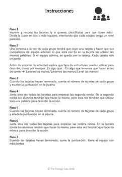 Spanish Speaking Activity – 24 Speaking Cards to Practice Description