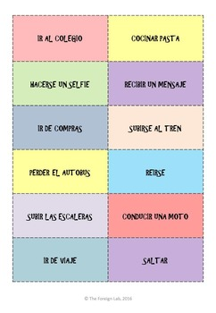 Spanish Speaking Activity – 24 Speaking Cards to Practice Description
