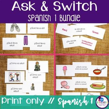 Spanish 1 Speaking Activity BUNDLE