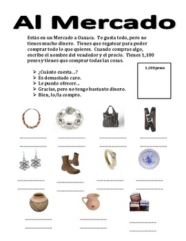 Spanish Speaking Activity-Bartering in a Market