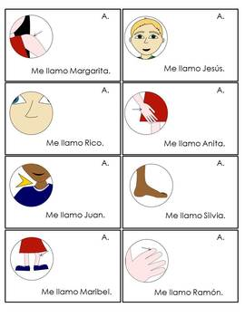 Spanish Speaking Activity Body Parts; Find Someone Who