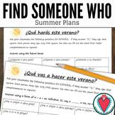 Spanish End of Year Speaking Activity - Spanish Summer Pla