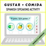 Spanish Speaking Activity - Gustar + Comida - Distance Learning