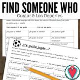 Spanish Speaking Activity - Gustar and Spanish Sports Vocabulary