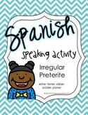 Spanish Speaking Activity Irregular Preterite 2; Find Someone Who