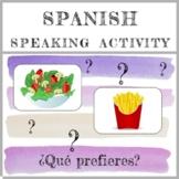 Spanish Speaking Activity - La Comida - Distance Learning