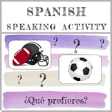 Spanish Speaking Activity - Los Deportes - Distance Learning