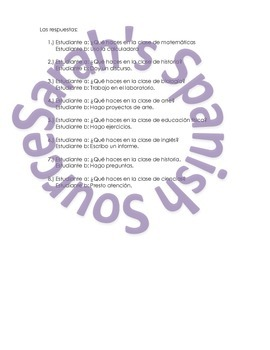 Spanish Speaking Activity Realidades 2, Chapter 1A