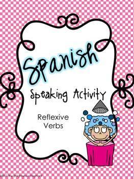 Spanish Speaking Activity Reflexive Verbs