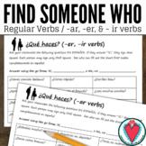 Spanish Speaking Activity - Regular Spanish Verbs