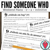 Spanish Speaking Activity - Weekend Plans - Ir a Infinitiv