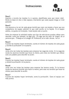 Spanish Speaking Activity: ¿What is it? - 24 Cards to Practice Description
