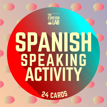 Spanish Speaking Activity: ¿What is it? - 24 Cards to Prac