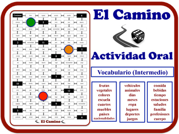 Spanish Speaking Activity for Intermediate Students (Low to Mid). Quick Set-Up
