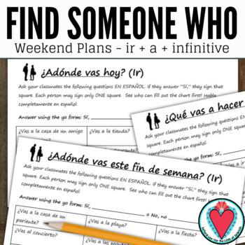Spanish Speaking Activity - the Spanish Verb IR