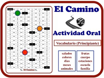 Spanish Speaking Activity for Novice Students (Mid to High). Quick Set-Up