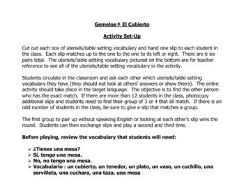 Spanish Speaking Activity to Practice Utensils (El Cubierto)