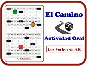 Spanish AR Verbs Speaking Activity.  Quick Set-Up, No Prep