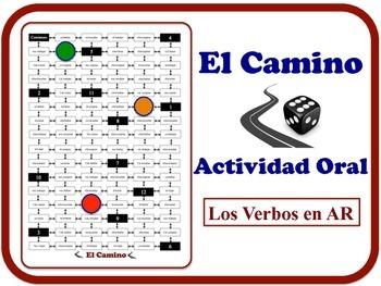 Spanish AR Verbs Speaking Activity.  Quick Set-Up, No Prep