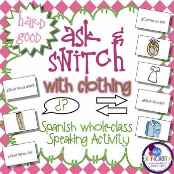 Spanish Speaking Activity with Clothing - Hard Good
