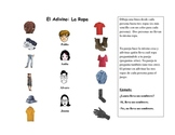 Spanish Speaking Activity with Clothing Vocabulary