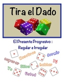 Spanish Present Progressive Speaking Activity (Dice, Groups)