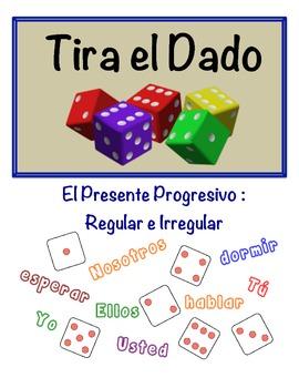 Spanish Present Progressive Speaking Activity (Dice, Groups)
