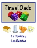 Spanish Food and Drink Vocabulary Speaking Activity (Dice, Groups)