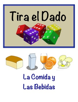 Spanish Food and Drink Vocabulary Speaking Activity (Dice,