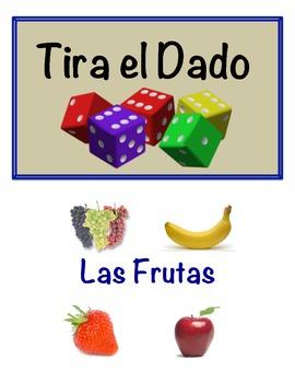 Spanish Fruit Vocabulary Speaking Activity (Dice, Groups)