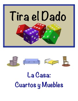 Spanish Room and Furniture Vocabulary Speaking Activity (D