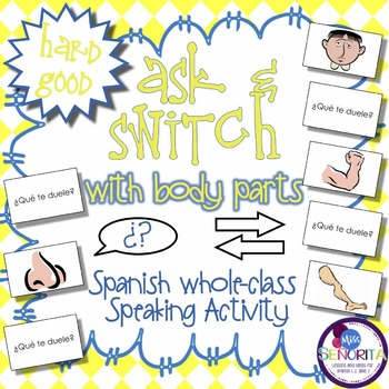 Spanish Speaking Activity with Doler & Body Parts - Hard Good