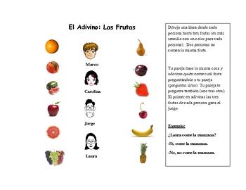 Spanish Speaking Activity with Fruit Vocabulary