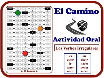 Spanish Irregular Verbs Speaking Activity.  Quick Set-Up, No Prep