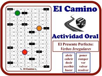 Spanish Present Perfect (Irregular Verbs) Speaking Activity. Quick Set-Up.