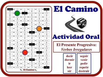 Spanish Present Progressive (Irregular Verbs) Speaking Activity. Quick Prep