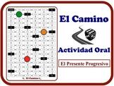 Spanish Present Progressive (Regular Verbs) Speaking Activity. Quick Prep.