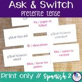 Spanish Speaking Activity with Preterite Tense