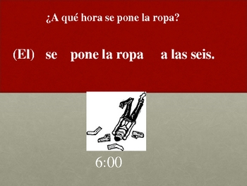 Spanish Speaking Activity with Reflexive Verbs (Pictures)