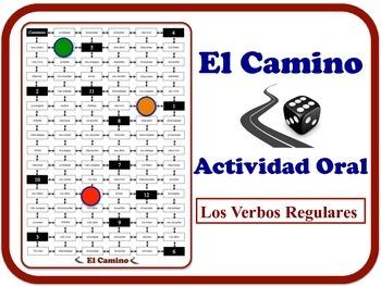 Spanish Regular Verbs Speaking Activity.  Quick Set-Up, No Prep