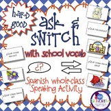 Spanish Speaking Activity with School Subjects & Supplies - Hard Good