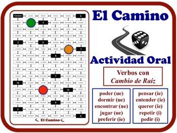 Spanish Stem-Change Verbs Speaking Activity.  Quick Set-Up, No Prep